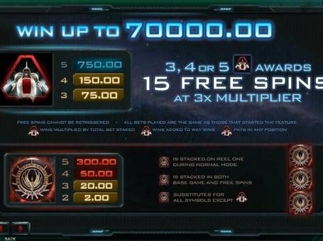 Scatter и Wild в автомате Battlestar Galactica