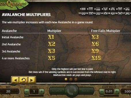 Игровой бонус в автомате Gonzo's Quest