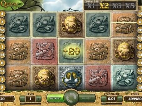Призовая комбинация в игровом автомате Gonzo's Quest