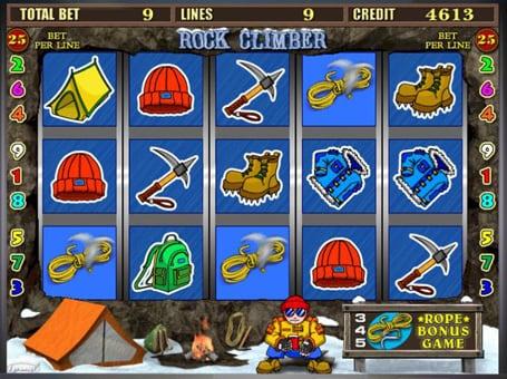 Игровой процесс в автомате Rock Climber