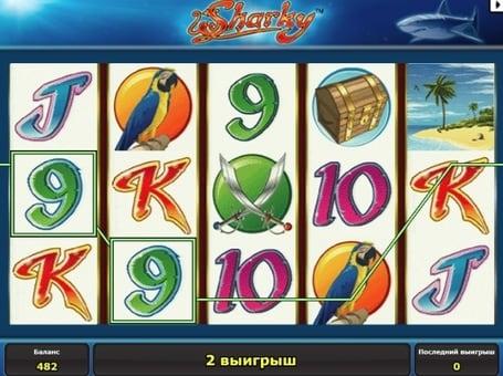 Выигрышная комбинация символов в автомате Sharky